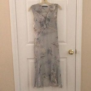 Elie Tahari Silk Chiffon Mermaid Floral Dress 2